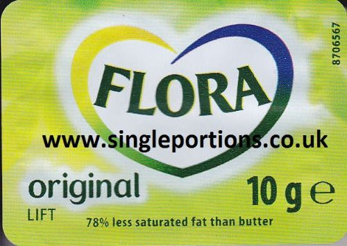 Flora Original 10g single portions - miniature plastic dishes