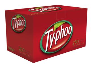 250 Typhoo Envelope Tea Bags - Single Portion Sachets - BULK PORTIONS
