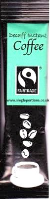 Fairtrade - DECAFF - Instant Coffee - single portion sticks