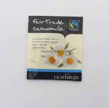 FAIRTRADE - Lichfields Camomile teabags - single portions sachets online