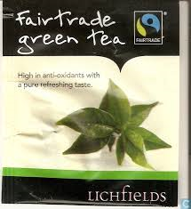 FAIRTRADE - Lichfields Green Tea teabags - single portions sachets online