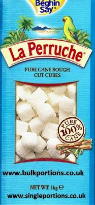 La Perruche - pure cane - white - rough cut cubes - BULK PORTIONS