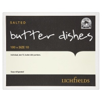 Lichfields British Butter - bulk portions - Full Box of 100 x 10g catering miniature portions