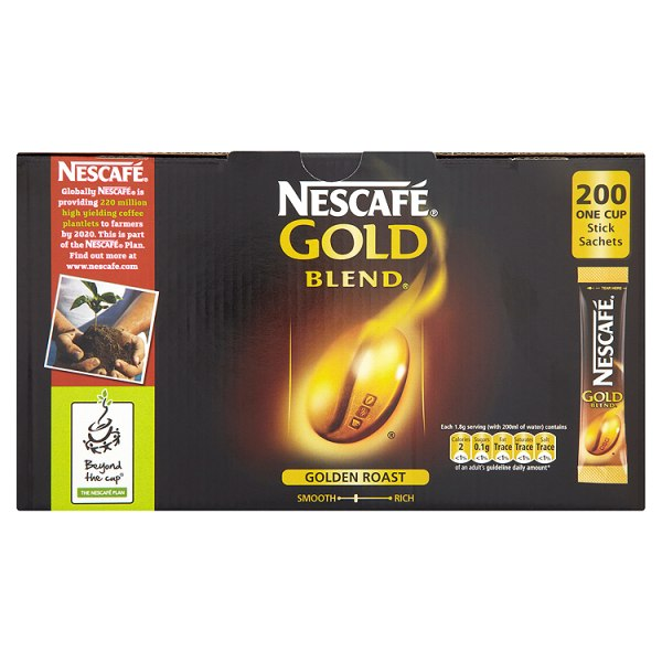 Nescafe - Gold Blend - Coffee - BULK BOX - 200 sticks