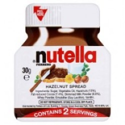 nutella Mini Glass Jars - Short BBE date